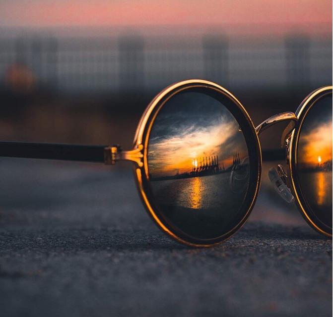 #glasses #aesthetic #aestheticallypleasing #gold #sunset #reflection