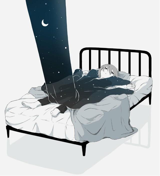 ~🌘  ᴛʜᴇ ᴅᴀʀᴋɴᴇss ɪs ᴛᴀᴋɪɴɢ ᴏᴠᴇʀ...   Tags~ #interesting #freetoedit #art #anime #animeboy #bed #sad #night