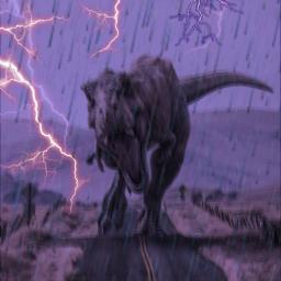rex rexkingandgodofthedinosaurs desert rainyday stormyday freetoedit
