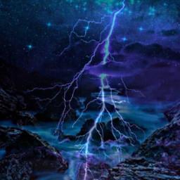freetoedit remixed lightening beautiful purples