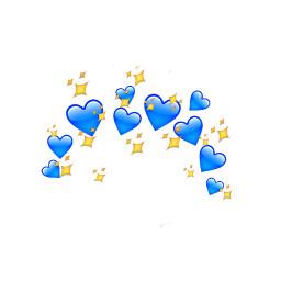 corazones azules sigueme freetoedit