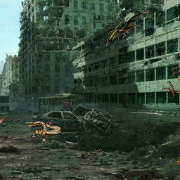 zombie zombies ghosttown ruins mutant