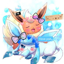 freetoedit glaceon flareon love iloveyou