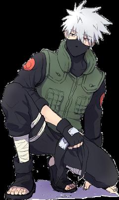 kakashi naruto hatake anime freetoedit