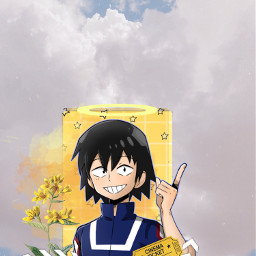 sero myheroacademia yellowaestetic anime ticket freetoedit