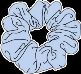 blue vsco babyblue scrunchie freetoedit