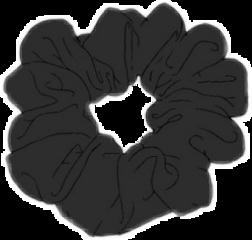 black vsco aesthetic scrunchie freetoedit