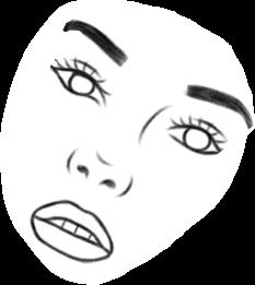 freetoedit face girl coloring minimal
