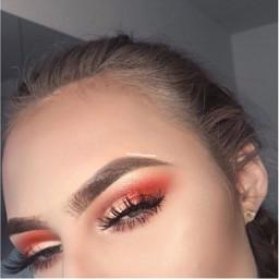 makeup red eyeshadow freetoedit