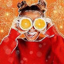 orange sketch newfilter fun langeweile