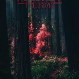 strangerthings stranger things red tree freetoedit