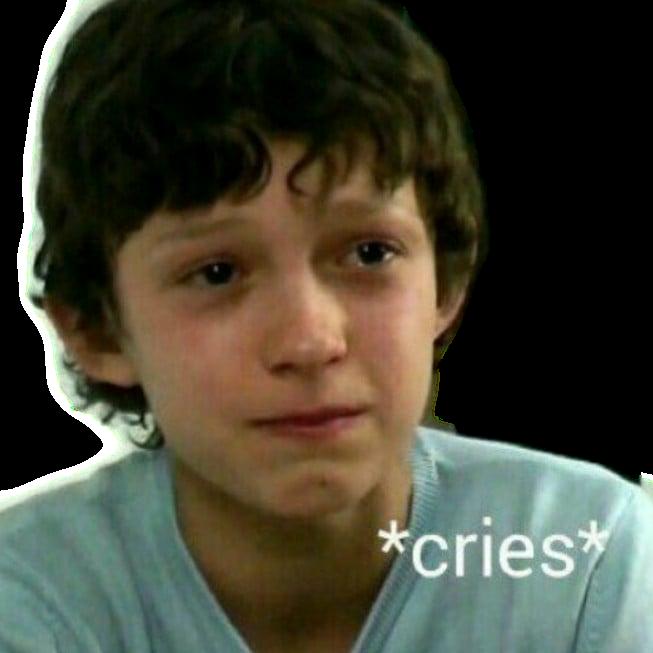 Tom Holland Spiderman Cries