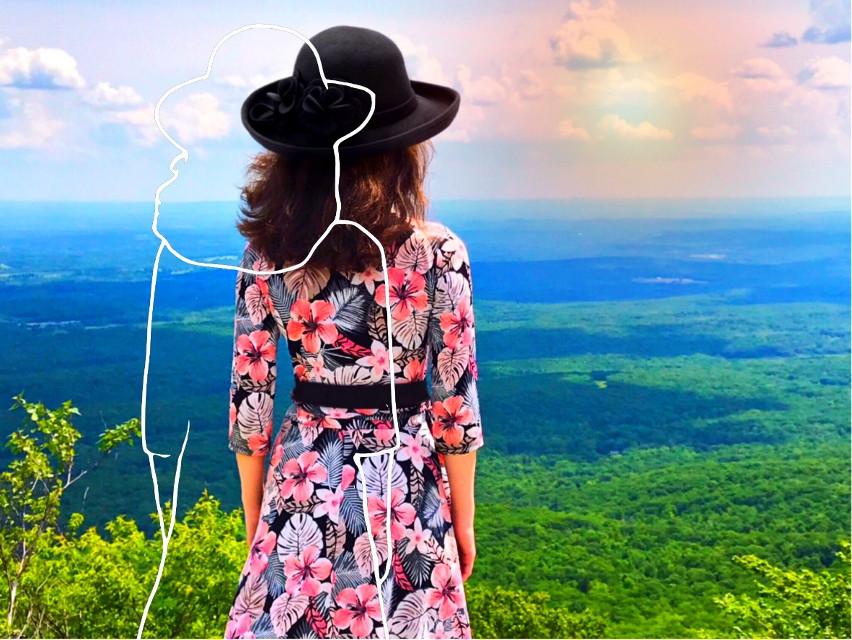 #freetoedit #vipshoutout #woman #standing #landscape #scenery #sketch #sketcheffect #picsarteffects #becreative #makeawesome  #tutorialpicsart  #myedit #madewithpicsart