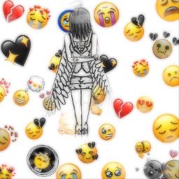 freetoedit sad angel wings