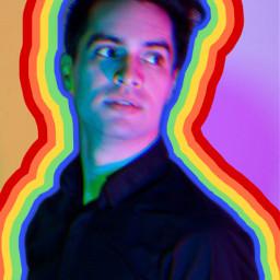freetoedit panicatthedisco brandonurie lgbtq rainbow