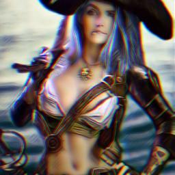 freetoedit badlandsmagiceffect glitcheffects pirate woman ircpeaceful