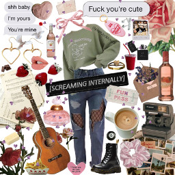 outfit ootd aesthetic aesthetics collage freetoedit