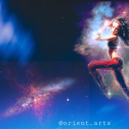 freetoedit nightsky dancinggirl girl nebula