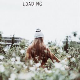 freetoedit flowerfield girl loading simplethings