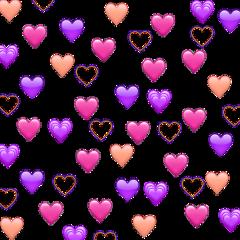 freetoedit heartemoji heart emoji emojibackround