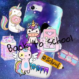 freetoedit kawaii unicorn backtoschool schoolsupplies