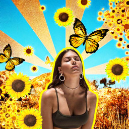 sunflower mixedmedia fltr