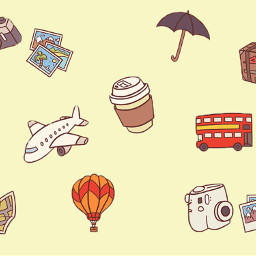 travel cute background backgrounds freetoedit