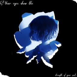 freetoedit blue girl flowers eyes