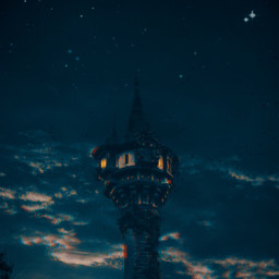 freetoedit tower night stars forest