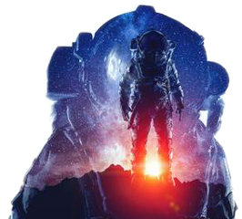 doubleexposure space man freetoedit
