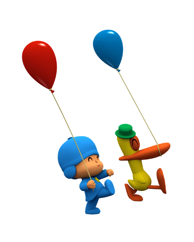 #freetoedit #pocoyo #pato #balloons #ftestickers #stickers