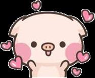 #cute #piggy #pig #pink #hearts #love #happy #kawaii #cartoon #freetoedit