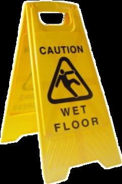 wet floor yellow sign aesthetic freetoedit