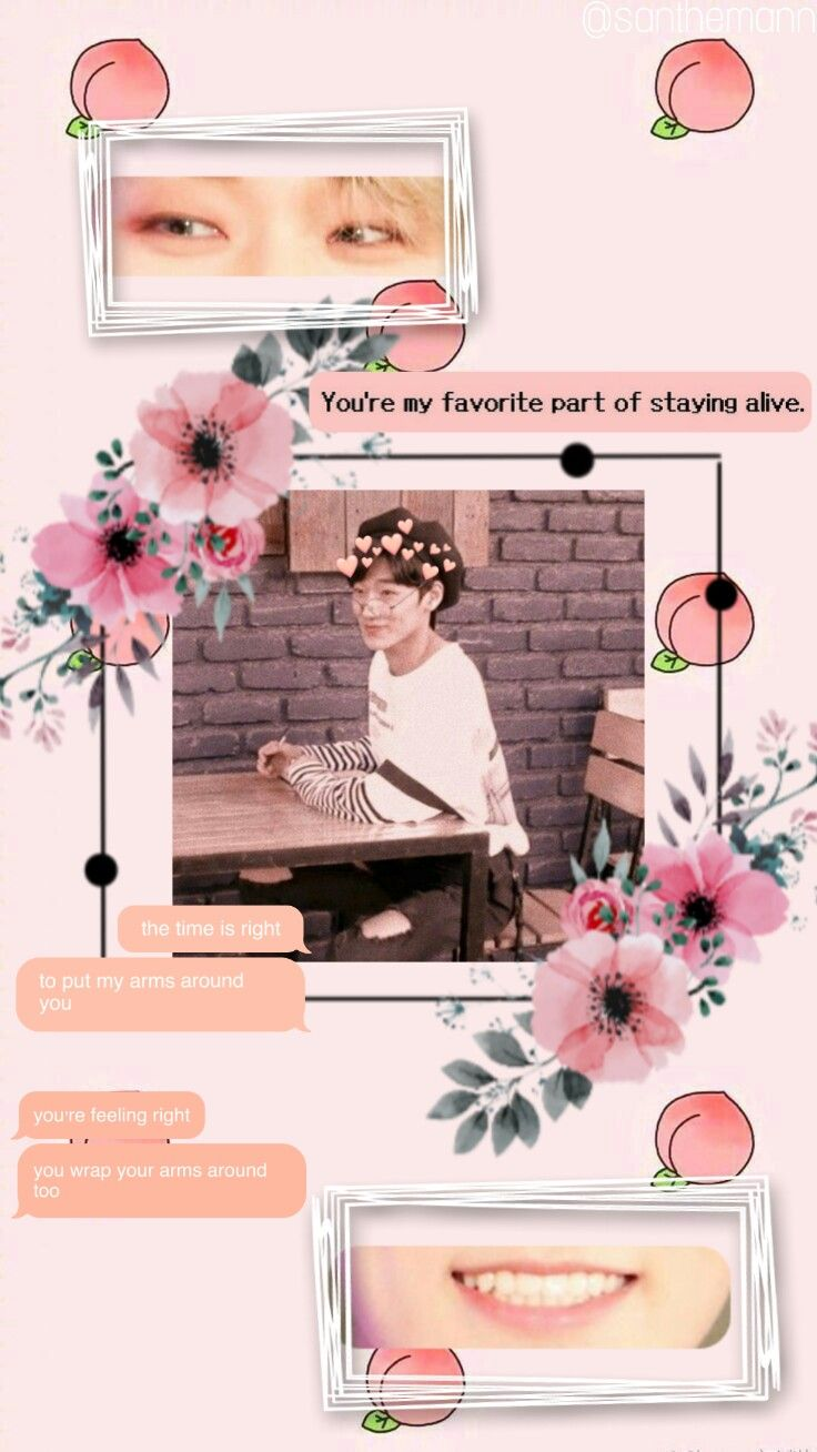 Freetoedit San Ateez Cute Edit Kpop Aesthetic Wallpaper