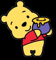 winniethepooh bear cute honey pot freetoedit