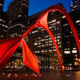 loveit flamingo sculpture chicago illinois freetoedit