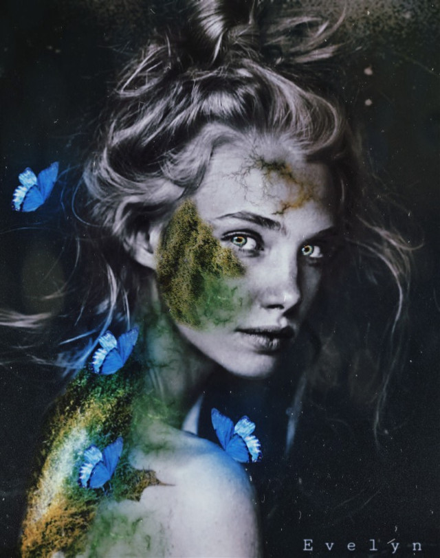 My old edit ❤  #freetoedit #myoldedit #woman #surreal #moss #fantasy