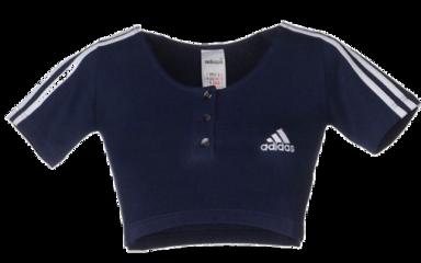 adiddas blue shirt top crop freetoedit