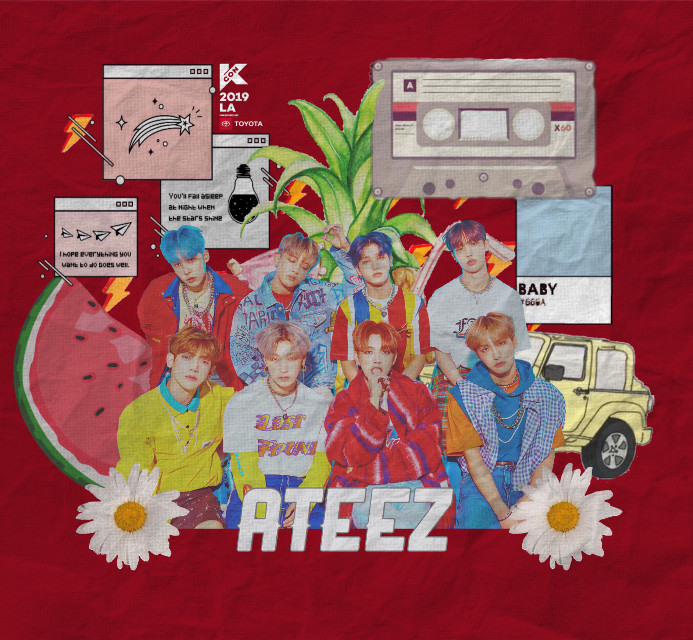 #freetoedit hi hi!!!! This is my redo of my 3rd entry for the #kcon2019la contest since it got rejected (I wasn't really sure why but the only thing I could think about was the skittles sticker and then I replaced it hehe) I hope it does not get rejected again but if it does plz tell me my error if you can catch. If not then pretend you didnt read that sentence lol. Anyways I hope you guys like it!!   #kcon19la #ateez #wave #illusion #kconla #kconedit #contest #atiny