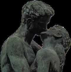kiss love couple sculpture art freetoedit