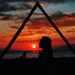 pcfaceless faceless sunset sunsetsilhouette