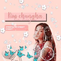 freetoedit chungha kimchunga chica snapping