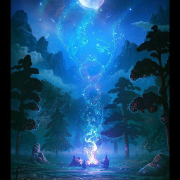 mystical forest magical freetoedit srcgalaxycircle