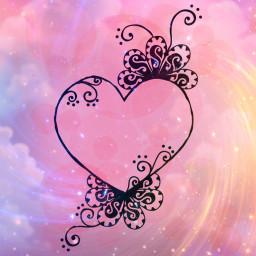 freetoedit background backgrounds hearts galaxy