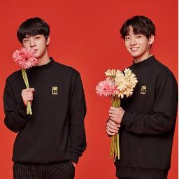 lockscreen bts jin jungkook flower