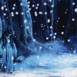 freetoedit horror horrors woodland forestgirl scary