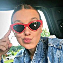 millie bobby brown heart glasses freetoedit