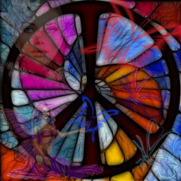 freetoedit myedit peaceonearth peacesign stainglass