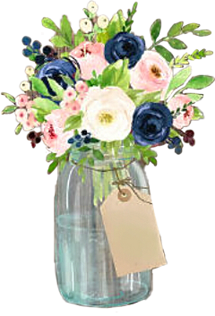 watercolor flowers floral decorative vase freetoedit