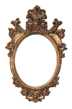 freetoedit frame mirror gold old